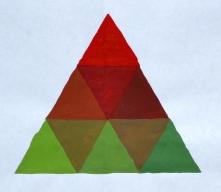 Triad against white background