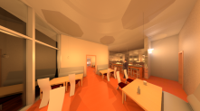 Restaurant Rendered View 1
