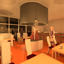 Restaurant Rendered View 3