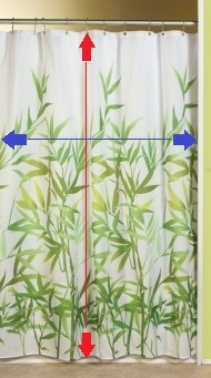InterDesign Anzu Shower Curtain, Green- LG2 - Copy