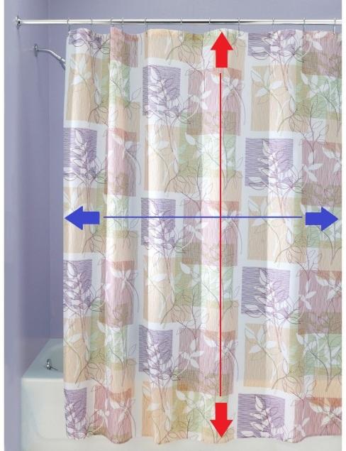 InterDesign Vivo Botanical Fabric Shower Curtain-72x 72, Purple-Tan- LG - Copy